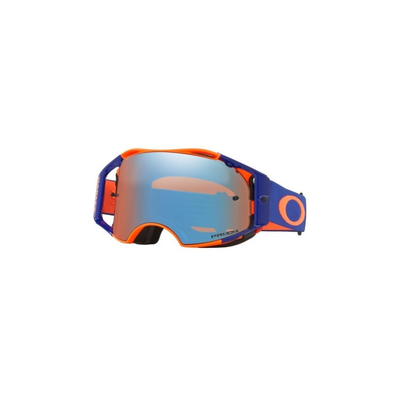 6af072b5ae Masque OAKLEY Airbrake Orange Blue écran Prizm MX Saphire Iridium